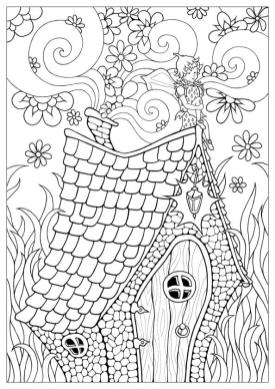 Strawberry Fairy Coloring Pages for Adults ok3