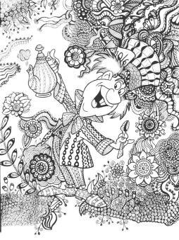 Adult Coloring Pages Disney Alice in Wonderland Mad Hatter