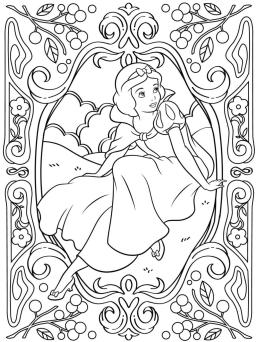 Adult Coloring Pages Disney Beautiful Snow White Drawing