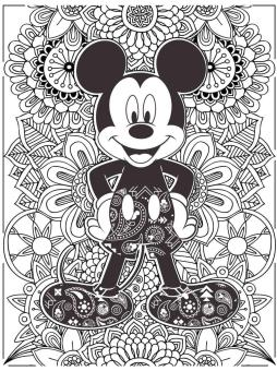 Adult Coloring Pages Disney Hard Mickey Mouse Zentangle Art
