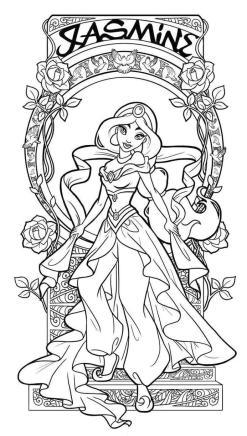 Adult Coloring Pages Disney Jasmine the Arabian Night Princess