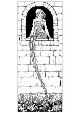 Adult Coloring Pages Disney Rapunzel and Her Golden Lock