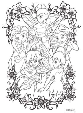 Adult Coloring Pages Disney Tinker Bell and Friends