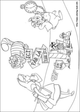 Alice In Wonderland Coloring Pages 3c2l