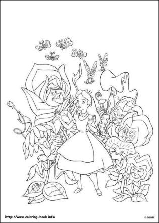 Alice In Wonderland Coloring Pages 6d4l