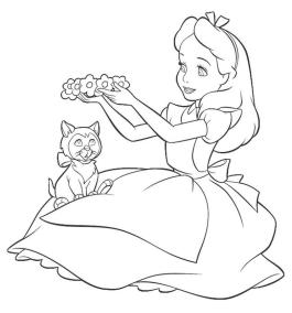 Alice In Wonderland Coloring Pages Free Printable 7cr1