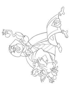 Alice In Wonderland Coloring Pages for Kids 1sl4