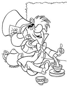Alice In Wonderland Coloring Pages for Kids 6mh1