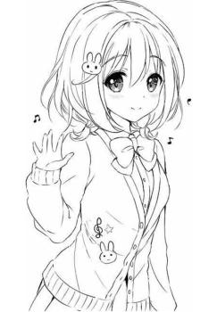 Beautiful Anime Girl Coloring Pages to Print hl28