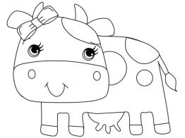 Cow Coloring Pages for Preschoolers Cute Little Baby Cow