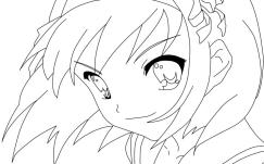 Cute Anime Girl Coloring Pages tq67