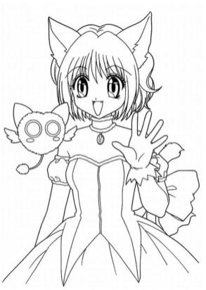 Cute Anime Girl Face Coloring Pages Free Printable hi51