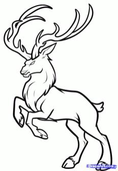 Deer Coloring Pages for Kids Angry Deer