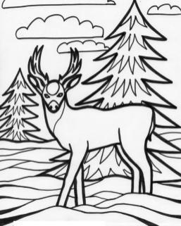 Deer Coloring Pages for Kids Deer Drawing Printable