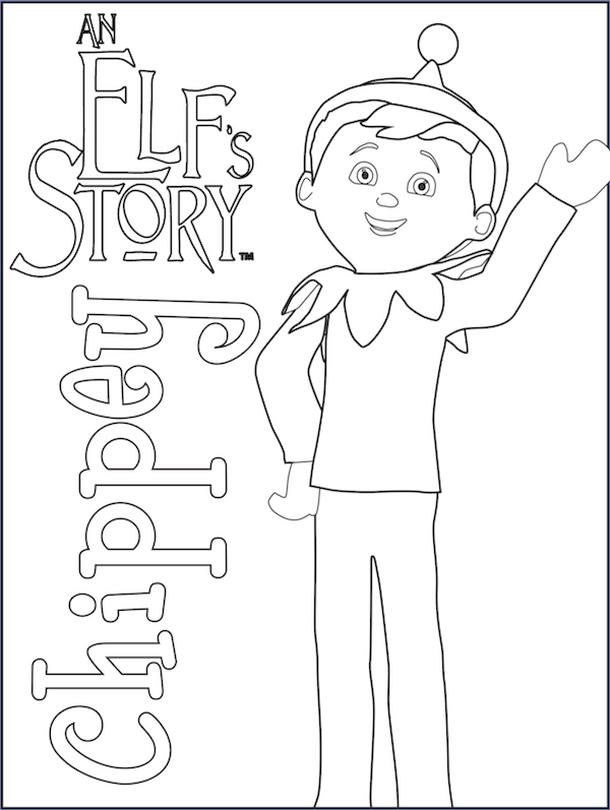Elf on the Shelf Coloring Pages Free Chappy Boy Elf on the Shelf Printable