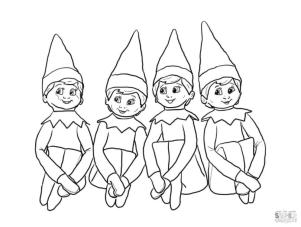 Elf on the Shelf Coloring Pages to Print Boy Elves on the Shelf Printable