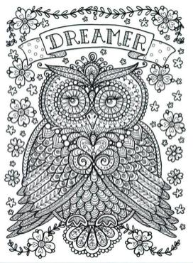 Free Owl Coloring Pages for Adults do16