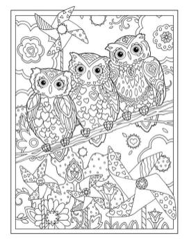 Free Owl Coloring Pages for Adults ow53