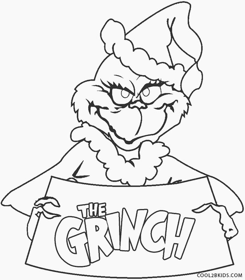 Grinch Coloring Pages Online I am the Grinch