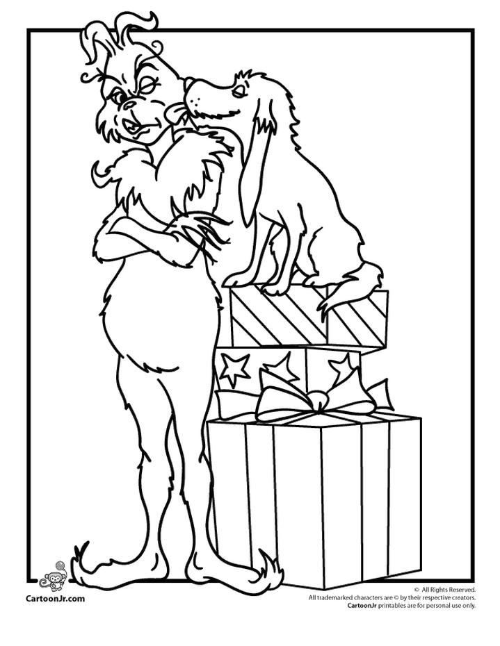 Grinch and Max Coloring Pages Max Really Loves Grinch