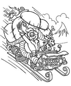 Grinch and Max Coloring Pages for Adults Grinch Stealing Christmas Presents