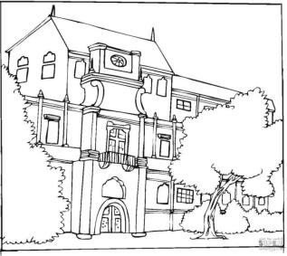 House Coloring Pages Huge Luxury House