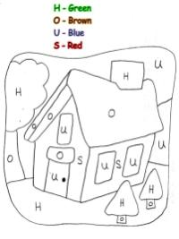 House Coloring Pages Printable Color by Number House for Kids
