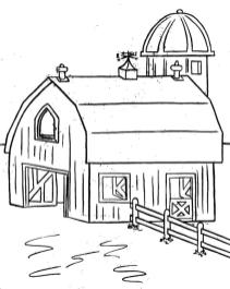 House Coloring Pages Printable Farm House