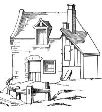 House Coloring Pages for Kids House Near the Beach