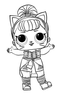 LOL Surprise Dolls Coloring Pages Free tdr9
