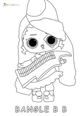 Lol Dolls Coloring Pages Printable Bangle BB