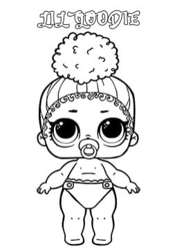 Lol Dolls Coloring Pages Printable Lil Goodie