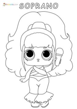 Lol Dolls Coloring Pages Printable Soprano