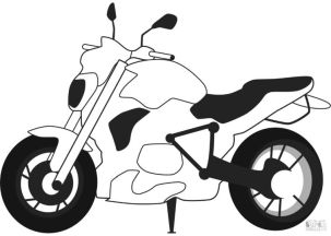 Motorcycle Coloring Pages BMW Streetfighter Bike