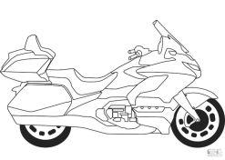 Motorcycle Coloring Pages Big Honda Goldwing