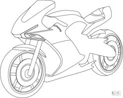Motorcycle Coloring Pages Cool Sport Bike