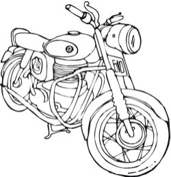 Motorcycle Coloring Pages Easy Retro Bike Old School