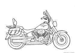 Motorcycle Coloring Pages Harley Davidson Free Printable