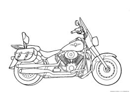 Motorcycle Coloring Pages Harley Davidson Free Printable