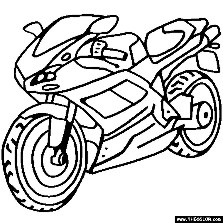 Get This Motorcycle Coloring Pages Kids Printable