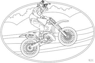 Motorcycle Coloring Pages Motocross Jumping