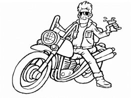 Motorcycle Coloring Pages for Boys