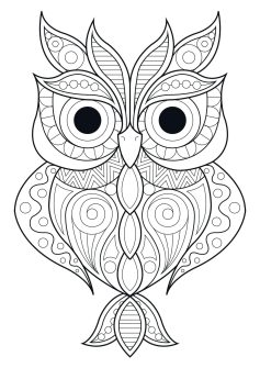 Owl Adult Coloring Pages 2pl5