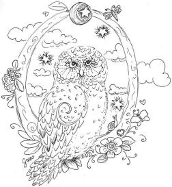 Owl Adult Coloring Pages Free Printable fo73