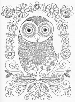 Owl Coloring Pages for Grown Ups Free to Print lp37