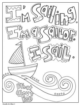 Quote Coloring Pages Easy Im Sailing
