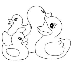 Rubber Duck Coloring Pages for Kids