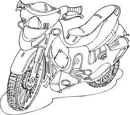 Small Motorcycle Coloring Pages for Boys