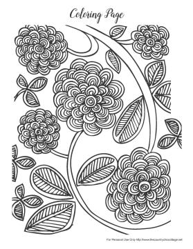 Spring Adult Coloring Pages Spring Flower Hard Coloring for Grown Ups