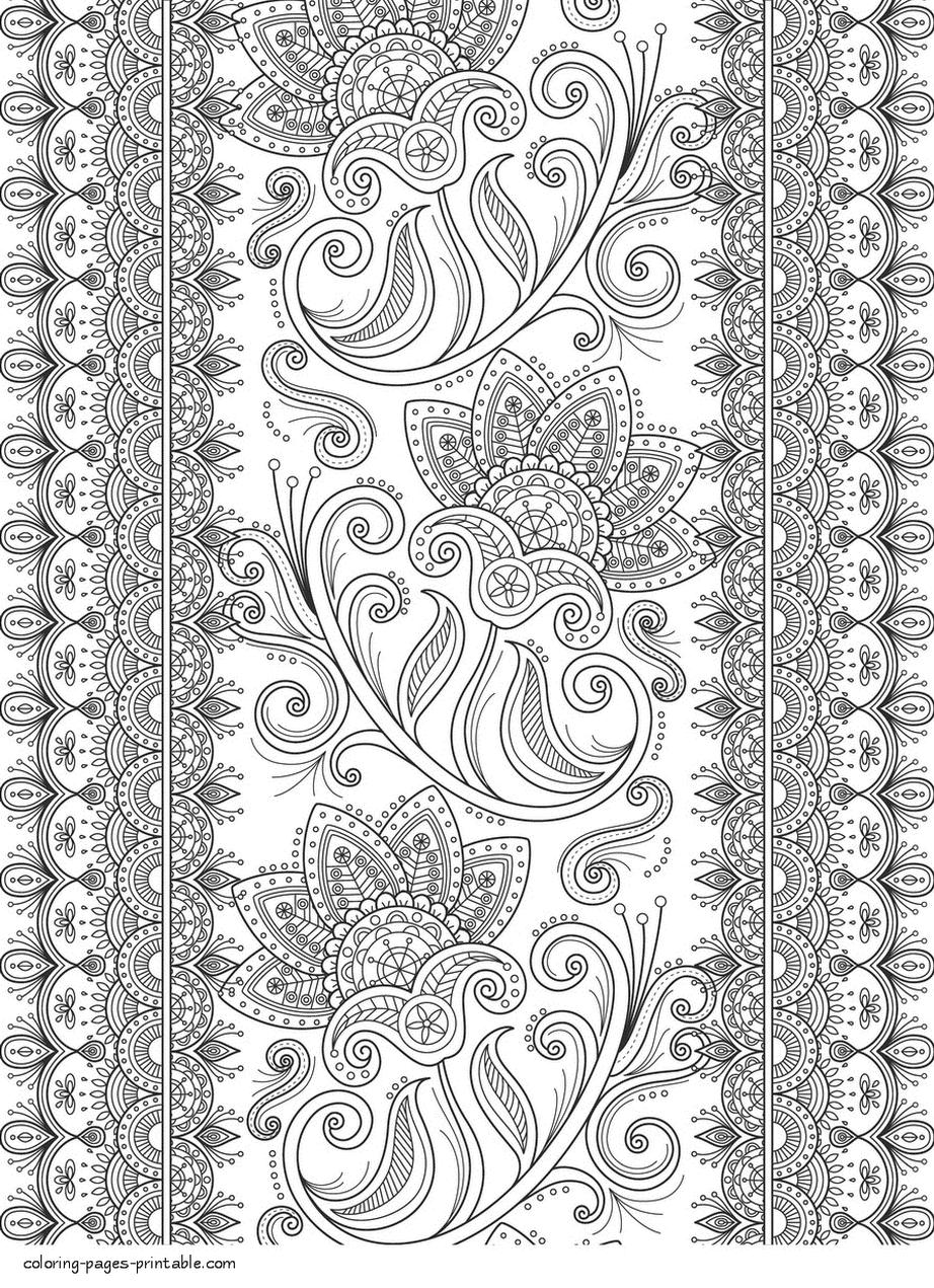Abstract Art Coloring Pages Challenging Flower Art Drawing